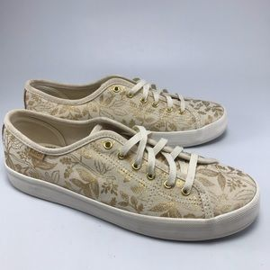 Keds X Rifle Paper Co Gold Sneakers